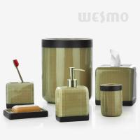 Quality Masculine Design With Checks And Khaki Color lPolyresin Bathroom Set ( WBP0805A) for sale