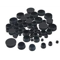 Quality Black Round Plastic Hole Plugs Caps Glide Insert End Caps Mixed Sizes for sale