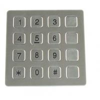 Quality Vandal Resistant Phone Keyboard , Stainless Steel Keypad With 16 Keys for sale