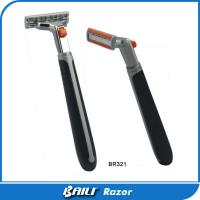 Quality Triple Stainless Steel Blade Plastic Safety Razor For Men Hotel Using for sale