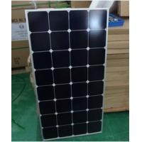 Quality USA cell solar panel 130W High Transmission Low Iron Tempered Glass for sale
