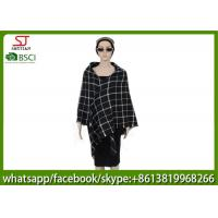 Quality 239g 140*140cm 100%Acrylic Woven Plaid Square Poncho hot sale new style  keep warm fashion scarf for sale