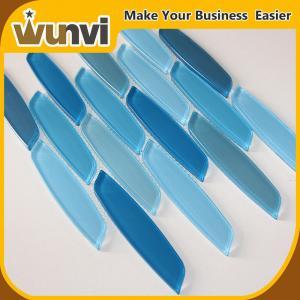 Quality Popular Blue Strip Mosaic Tiles backsplash acid-proof for wall for sale
