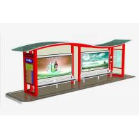 Quality High Performance Cantilever Bus Shelter , Beautifully Bus Stop Shelter Design for sale