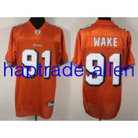 Quality Jerseys Wholesale 100% Nylon Mesh Miami Dolphins #91 Cameron Wake Orange or white jerseys Wholesale free shipping and mix order for sale