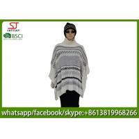 Quality 420g 60*105cm 100%Acrylic knitting jacquard with snood poncho best price factory  keep warm fashion china supplying for sale