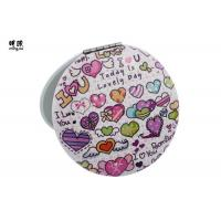 China Double Sided Lovely Small Compact Mirror For Men Printing Carton Design on sale