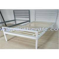 Quality Simple and Sturdy metal bed, color customzied and single size, easy to assemble for sale