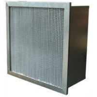 Quality Washable High Temp Mini Pleat Hepa Air Filter High Efficiency With Pleated / Clapboard for sale