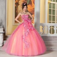 Appliques wedding dress gorgeous sweep train layered wedding gowns