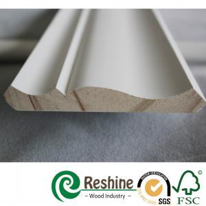 Buy cheap Primed finger joint wood pine flooring baseboard door casing ceiling crown moulding product