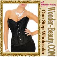 Quality Black Steel Boned Corset for sale
