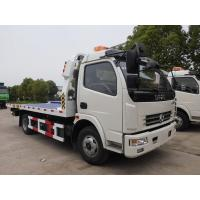 Quality Dongfeng 5 Ton Flatbed Recovery Truck Heavy Wrecker Trucks 6 Wheel 120hp for sale