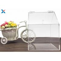 Quality House Shape Clear Acrylic Gift Boxes Candy Container Non Toxicity For Retail Store for sale