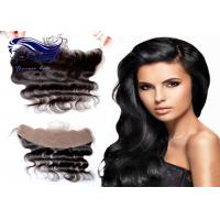 Quality Front Side Part Lace Closure / Remy Lace Front Weave Closure Medium Brown for sale
