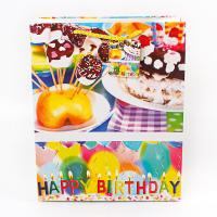 Quality Custom paper shopping bags logo coated birthday present paper bag for sale