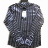 Quality Men's Casual Shirt with Stripes and Long Sleeves for sale