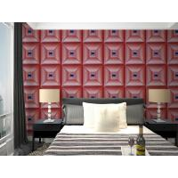 Buy Parlour Decorative Leather Textured 3D Wall Panel Embossed Indoor Wall Decals at wholesale prices