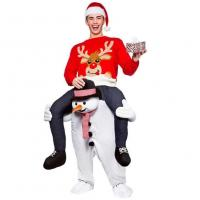 Quality Carry Me Mascot Piggy Back Ride On Novelty Snowman Mascot Costumes For Christmas for sale