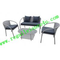 Cheap sofa style 4pcs outdoor synthetic rattan sofa set with steel frame RLF-008HS