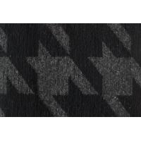 Quality Classical Big Houndstooth Wool Fabric , Hard Wearing Faux Sheep Wool Fabric for sale