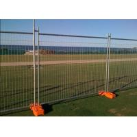China PVC Coated Temporary Mesh Fence /  Galvanized Wire Construction Site Fencing on sale