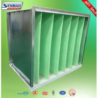 Quality Industrial Air Purifier Filter Galvanized Frame V Cell Secondary Air Filter for sale