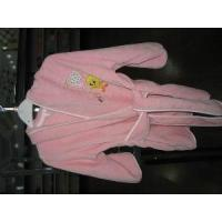 Quality Plain Dyed Velour Children′s Bathrobe for sale