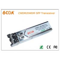 China 1.25G C-Band DWDM sfp transceiver 120km with DDMI for DWDM SONET / SDH on sale