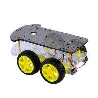 Quality DC 6V DIY Smart Robot Car Extended Edition Four Wheel Drive Double - Deck for sale