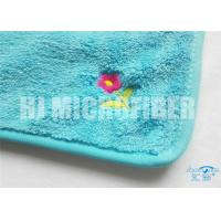 Quality Super Soft And High Water Absorption Factory Direct Blue Printed Microfiber Cleaning Cloth  100%Economy  30X40cm for sale