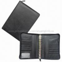 Quality Leather Briefcase with 13 Card Slots and Zipper Around for sale