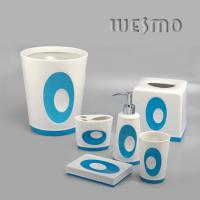 Quality 6 Piece Conique Nuance Blue Porcelain Bathroom Accessory Sets for sale