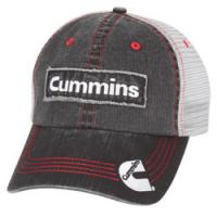 Quality Unisex Summer  Demin Black Frayed Cotton Mesh Trucker Hats With Soft Distressed Semi Contrated Vented Gear Eyelets for sale