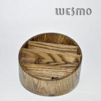 Quality Custom OEM Round Bamboo Jewelry Box Holder with Four Terraced Parts for sale