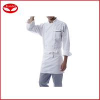Quality Personalized short / Long sleeve White hotel jacket food service uniforms for sale