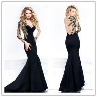 Quality Mermaid Sweetheart Womens Evening Dresses One Shoulder Sequins for sale
