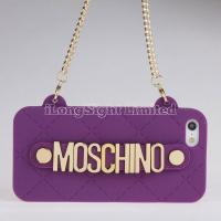 Quality MOSCHINO Handbag With Chain Hold Silicone Case For iPhone 5 for sale