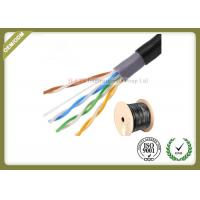 Quality Outdoor water blocking oxygen free copper shielded Cat5e  UTP cable 305M 0.5mm diameter for sale