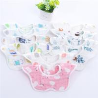 Quality Reusable Baby Girl Dribble Bibs / Washable Durable Muslin Baby Clothes for sale