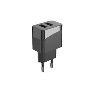 Quality 2Pin Plug 5V2.4A AC100V Dual Ports USB Charger PD12W for sale