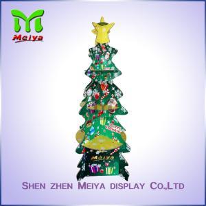Christmas Party Decoration Custom Cardboard Displays , recycled corrugated floor display
