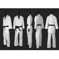 Buy cheap Martial Arts Wears White Judo Uniform With Flat Drawing String from wholesalers