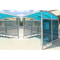 Quality Personalized Stainless Steel Bus Shelter Holistic Design Whole Height 2.5-2.8 Meters for sale