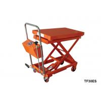 Quality Stationary Lift Table With Scale , Foot Pump Hydraulic Scissor Lift Cart for sale