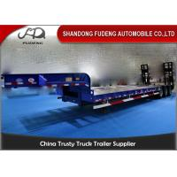 Buy cheap Transport Heavy Large Machine Low Flatbed Trailer , 45 Ton - 55 Ton Low Bed Trailer product