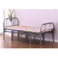Quality Simple Tri Fold Portable Folding Bed Fold Away Cot With Steel Pipe Frame for sale