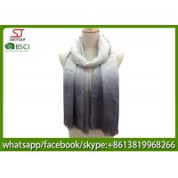 Chinese factory frayed ombre lightweight scarf 100% Viscose 70*180cm spring