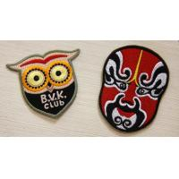 China Colorful Custom Embroidered Patches backed Glue For Union Form on sale