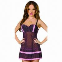 Quality Babydoll, made of polyester and spandex  for sale
